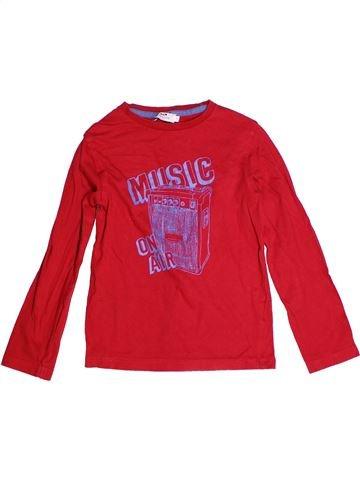 Camiseta de manga larga niño CYRILLUS rojo 8 años invierno #1268404_1