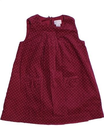 Robe fille CYRILLUS rouge 2 ans hiver #1268600_1
