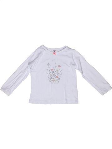 T-shirt manches longues fille PETIT BATEAU gris 4 ans hiver #1268672_1