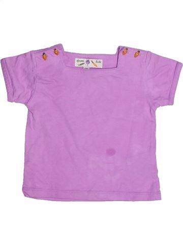 T-shirt manches courtes fille DPAM violet 6 mois été #1268688_1