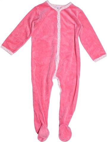 Pyjama 1 pièce fille PETIT BATEAU rose 3 ans hiver #1268851_1