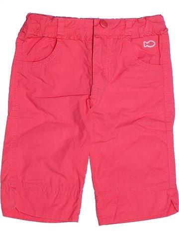 Pantalón corto niña WEEK END A LA MER rosa 3 años verano #1268860_1