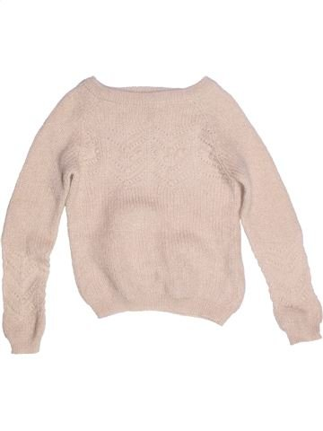 Pull fille CYRILLUS beige 8 ans hiver #1268963_1
