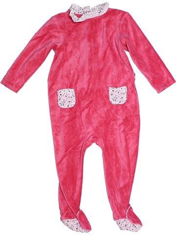 Pijama de 1 pieza niña CYRILLUS rosa 2 años invierno #1268966_1