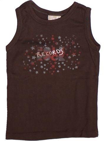 T-shirt sans manches fille DPAM marron 6 ans été #1269006_1