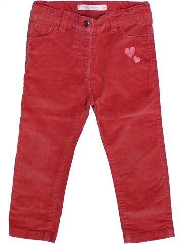 Pantalon fille GEMO rouge 2 ans hiver #1269097_1