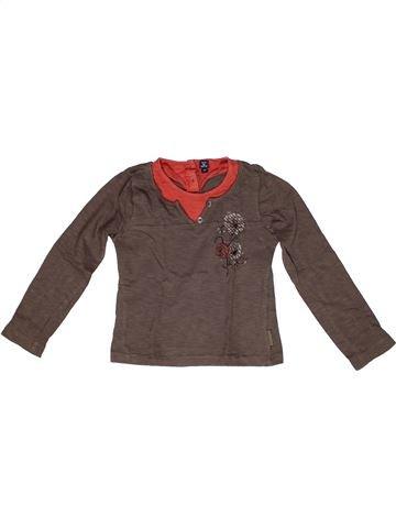T-shirt manches longues garçon TERRE DE MARINS marron 6 ans hiver #1269203_1