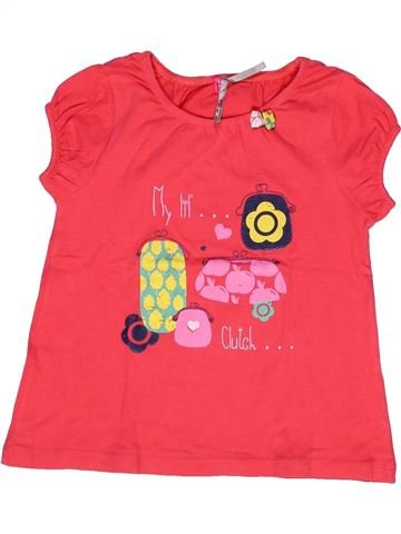 T-shirt manches courtes fille ORCHESTRA rouge 6 ans été #1269214_1