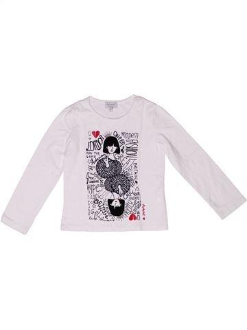 T-shirt manches longues fille ALPHABET blanc 4 ans hiver #1269987_1