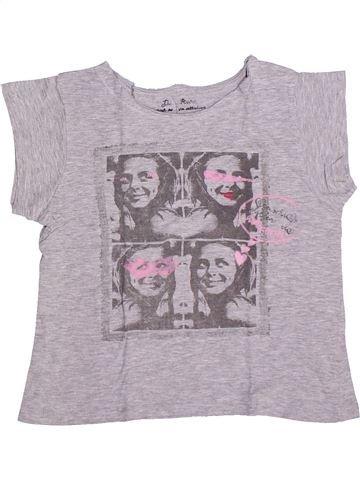 T-shirt manches courtes fille LISA ROSE gris 10 ans été #1270037_1