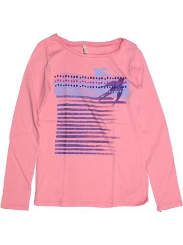 T-shirt manches longues fille BENETTON rose 9 ans hiver #1270114_1