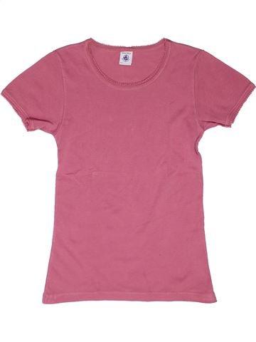 Camiseta de manga corta niña PETIT BATEAU rosa 12 años verano #1270159_1