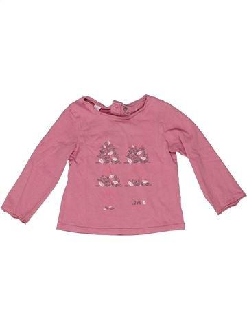Camiseta de manga larga niña OKAIDI rosa 2 años invierno #1270195_1