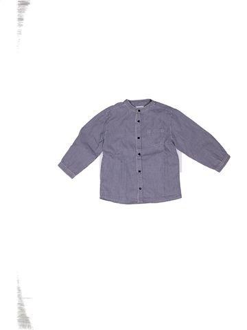 Chemise manches longues garçon BOUT'CHOU gris 3 ans hiver #1270213_1