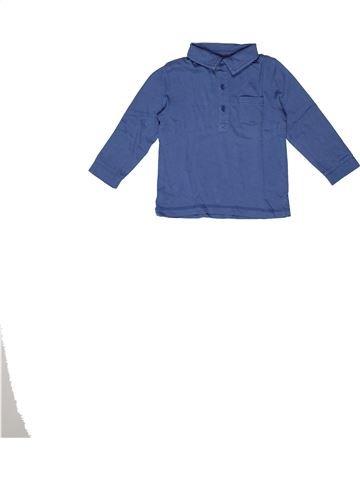 Polo de manga larga niño BOUT'CHOU azul 2 años invierno #1270216_1