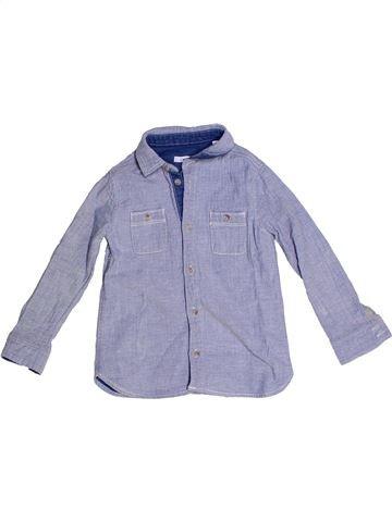 Chemise manches longues garçon OKAIDI violet 4 ans hiver #1270371_1