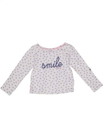 Camiseta de manga larga niña OKAIDI blanco 5 años invierno #1270502_1
