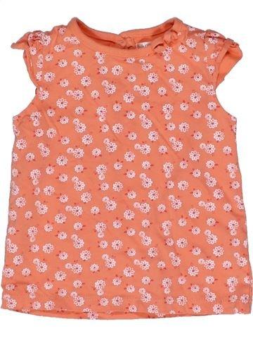 T-shirt manches courtes fille M&CO rose 12 mois été #1270899_1