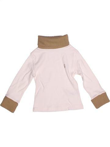 Camiseta de cuello alto niño OKAIDI blanco 2 años invierno #1270907_1