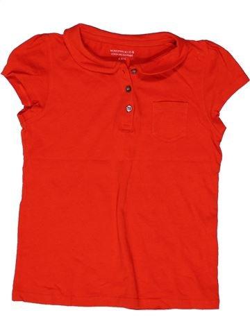 Polo manches courtes fille MONOPRIX rouge 6 ans été #1271193_1