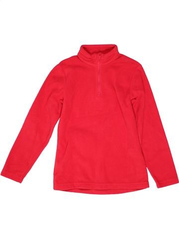 Pull unisexe QUECHUA rouge 10 ans hiver #1271425_1