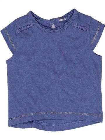 T-shirt manches courtes fille F&F bleu 6 mois été #1271656_1