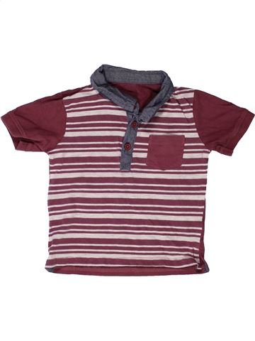 Polo manches courtes garçon MATALAN violet 18 mois été #1272388_1