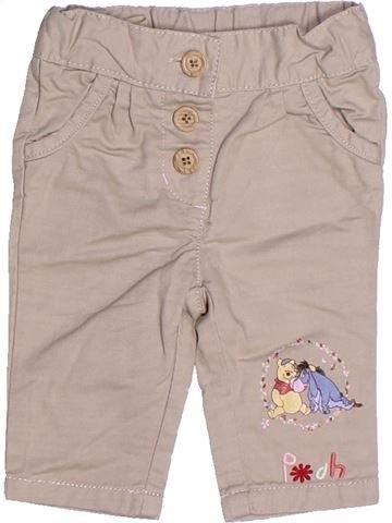 Pantalon fille DISNEY beige 3 mois été #1272832_1