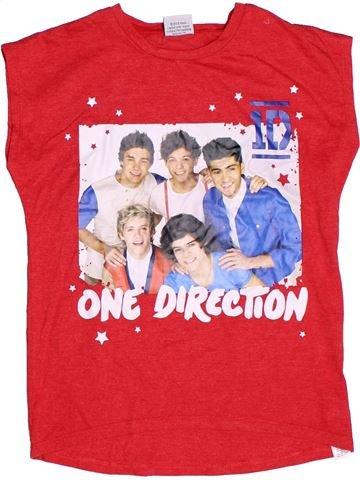 T-shirt manches courtes fille ONE DIRECTION rose 10 ans été #1272892_1