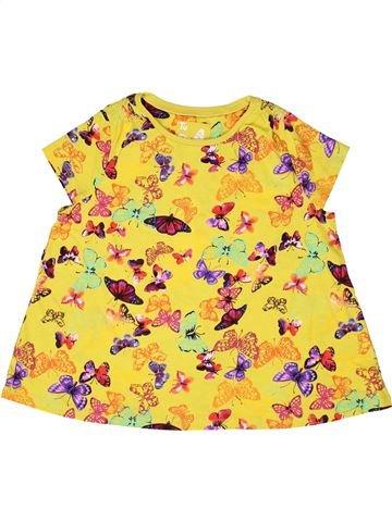 T-shirt manches courtes fille TU jaune 9 ans été #1273019_1