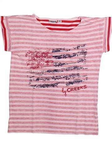 Camiseta de manga corta niño CREEKS rosa 12 años verano #1273336_1