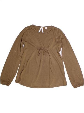 T-shirt manches longues fille OKAIDI marron 12 ans hiver #1273348_1