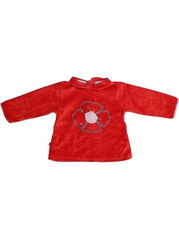 Pull fille OKAIDI rouge 12 mois hiver #1273434_1