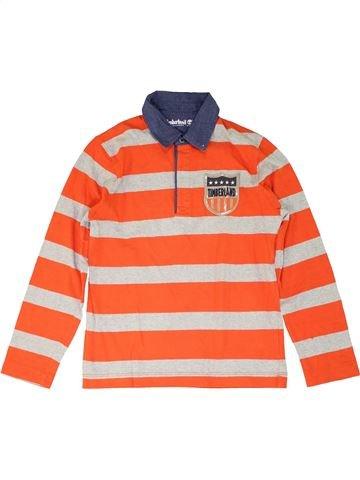 Polo de manga larga niño TIMBERLAND naranja 10 años invierno #1274032_1