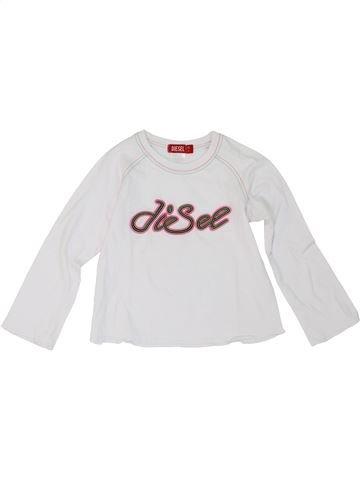 T-shirt manches longues fille DIESEL blanc 4 ans hiver #1275088_1