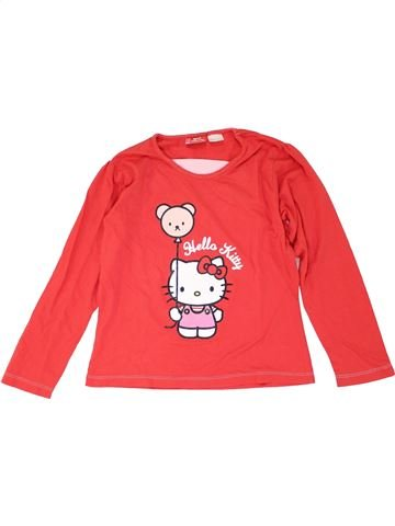T-shirt manches longues fille HELLO KITTY orange 9 ans hiver #1275110_1