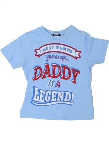 T-shirt manches courtes garçon GEORGE bleu 3 ans été #1275486_1