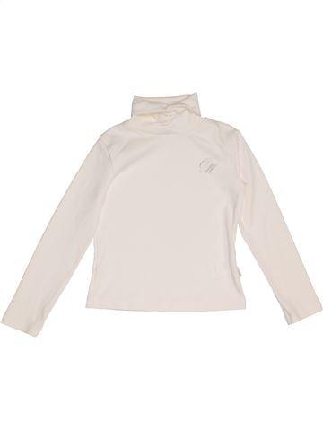 T-shirt col roulé fille ORIGINAL MARINES blanc 6 ans hiver #1275511_1