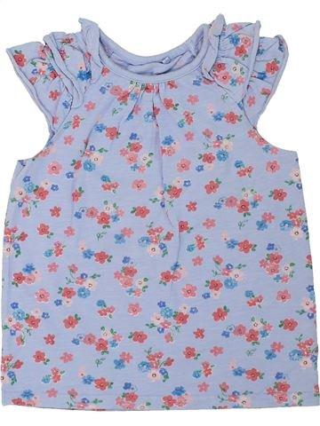 T-shirt manches courtes fille GEORGE bleu 4 ans été #1275966_1