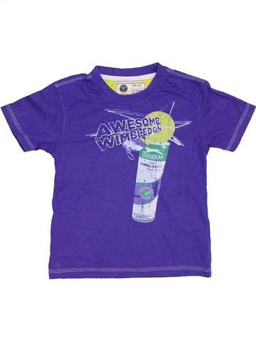 T-shirt manches courtes garçon A.E.L.T.C. violet 5 ans été #1275979_1