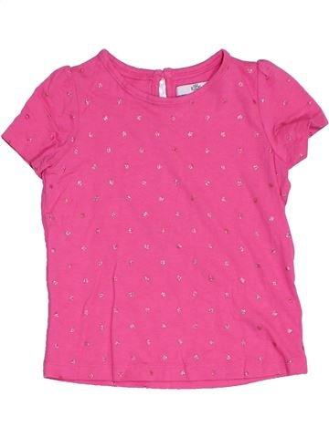T-shirt manches courtes fille MARKS & SPENCER rose 3 ans été #1276276_1