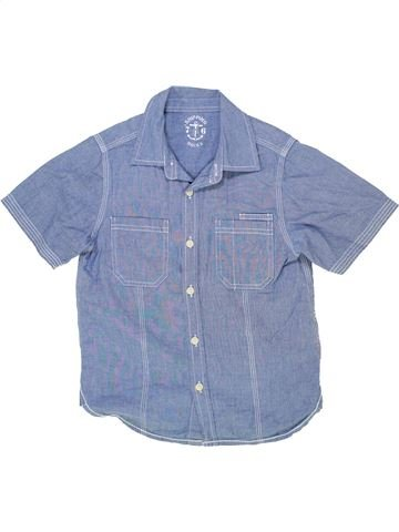 Chemise manches courtes garçon MATALAN bleu 7 ans été #1276859_1