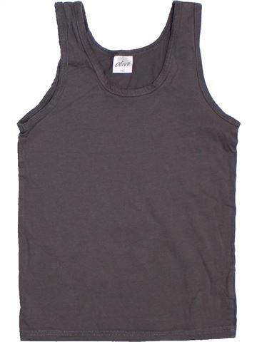 T-shirt sans manches fille ALIVE marron 10 ans été #1277917_1