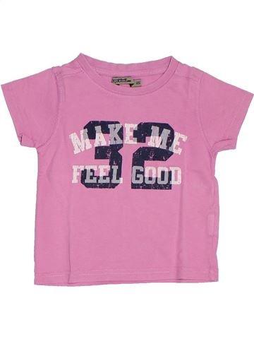 T-shirt manches courtes garçon TAPE À L'OEIL rose 2 ans été #1278376_1