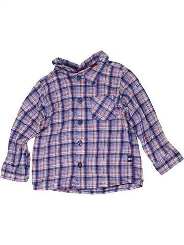 Chemise manches longues garçon OKAY gris 2 ans hiver #1278738_1