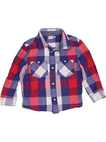 Chemise manches longues garçon MINI CLUB violet 2 ans hiver #1279121_1