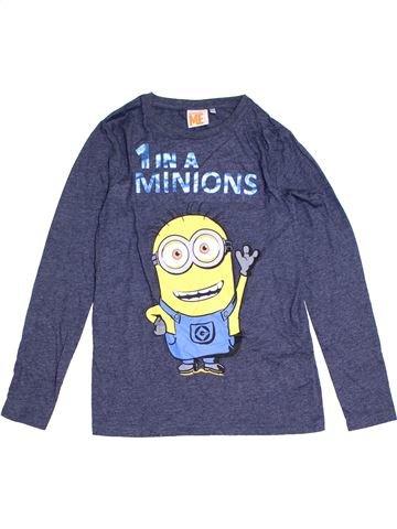 T-shirt manches longues garçon LES MINIONS bleu 12 ans hiver #1280304_1