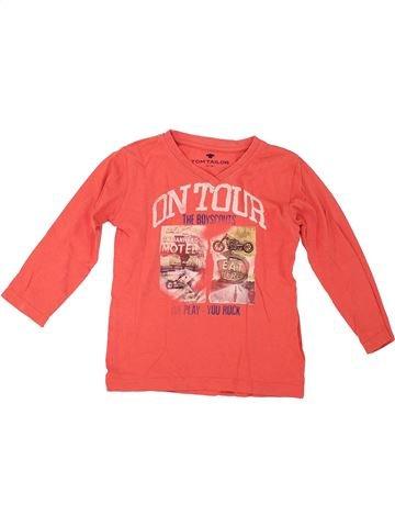T-shirt manches longues garçon TOM TAILOR rose 4 ans hiver #1281008_1