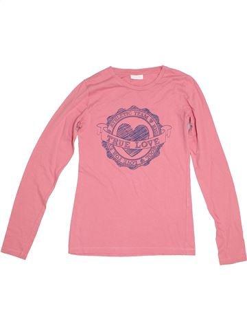 T-shirt manches longues fille BLUKIDS rose 14 ans hiver #1282683_1