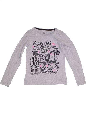 T-shirt manches longues fille TEX gris 12 ans hiver #1282874_1